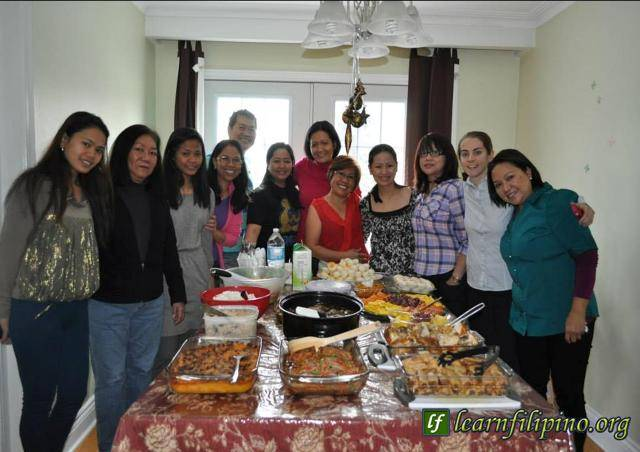 Filipinos in Canada – The number of Filipinos in Canada is growing. Many skilled workers are migrating there for an opportunity to give a better future for their families in the Philippines. Most of them love to get together and share foods together in the weekends and during holidays. It doesn't matter if they are not physically related to each other. They consider themselves family. – Photo by Lourdes Moraleja