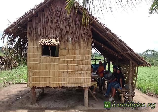 This is a typical day for families that are in the farms. They cultivate the farms and they hang out in a nipa hut (bahay kubo) which is usually close to the farms they cultivate. Some farmers live permanently in a Bahay Kubo and some have them as their second home when they are in the farms. – Photo by Josephus Palacio Abinum, Masbate, Philippines