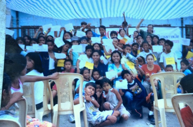 Serving the kids in Baseco and Payatas, Philippines