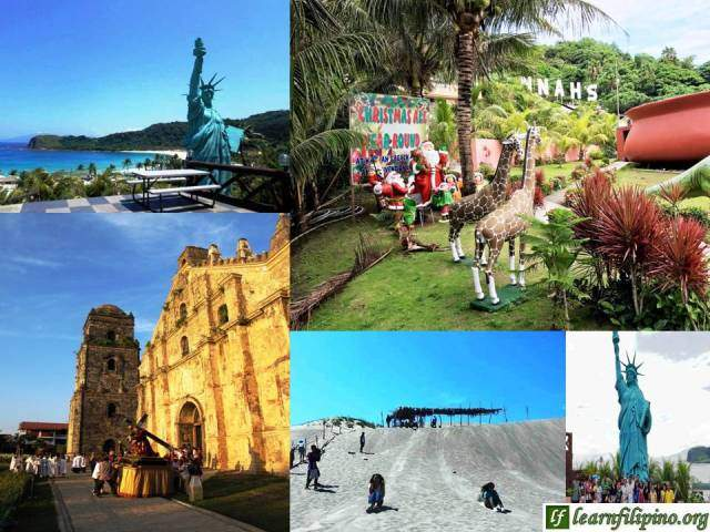 Favorite Places In Ilocos Norte: Hannah's Resort, Paoay Church and Paoay Sand Dunes.