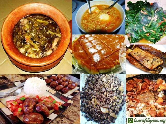 Ilocos Local Foods: Ilocos Pinakbet, Batac Miki, Dinengdeng, Royal Bibingka, Tupig, Ilocos longanisa, Igado, and Bagnet