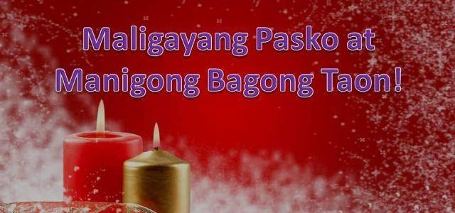 Translate Merry Christmas and a Happy New Year in Filipino