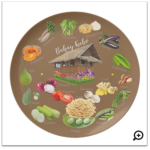 Bahay kubo custom made plate - Learn the vegetables in the Bahay Kubo song