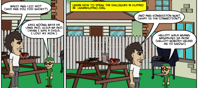 Pinoy joke! Why are you too short?