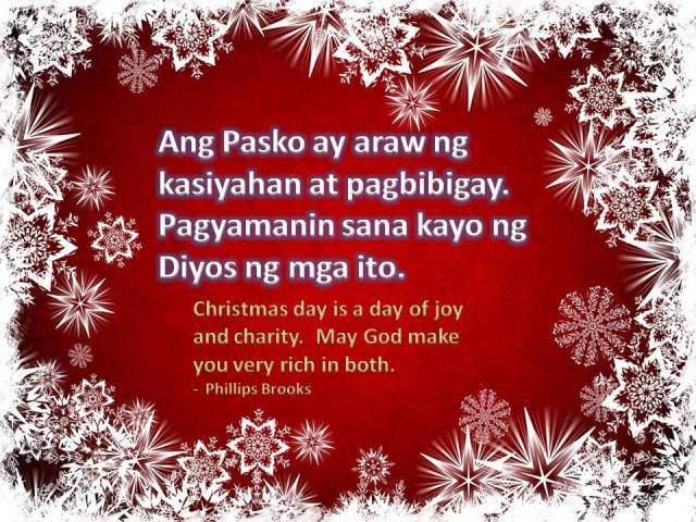 Christmas pasko for filipinos learn the culture and tagalog language christmas quote christmas day is a day of joy and charity may god make m4hsunfo