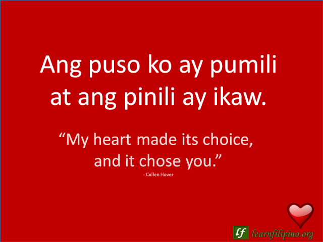 Filipino Love Quotes - Learn Filipino