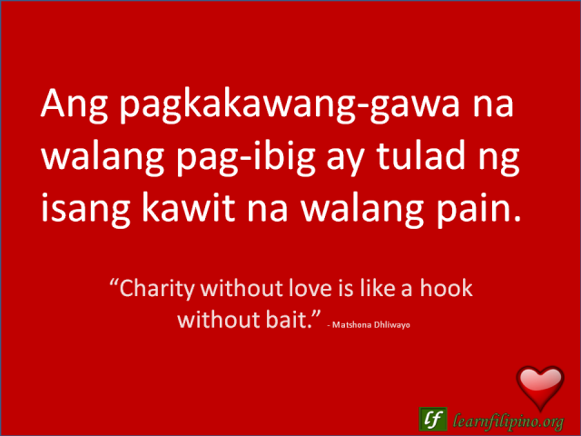 Hook up translated in tagalog