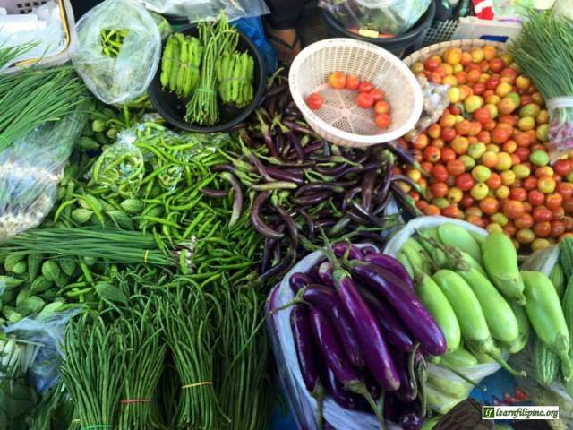 Fresh Tropical Vegetables in the Philippines