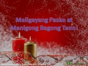 Merry Christmas In Tagalog.Merry Christmas And A Happy New Year Tagalog Maligayang