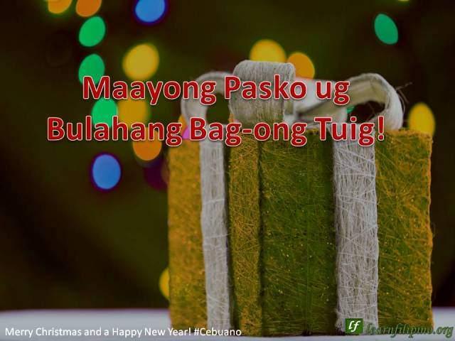 Merry Christmas and a Happy New Year - Cebuano - Maayong Pasko ug Bulahang Bag-ong Tuig !