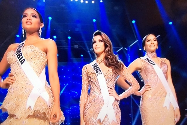 Ms Universe 2017 - Top 3 - Colombia, Haiti, and France
