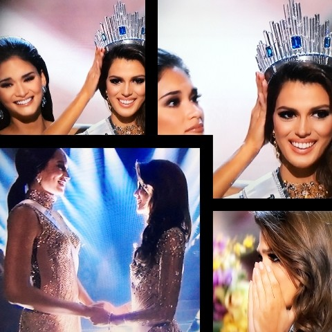 Ms. France was named Ms. Universe 2017. Pia (Ms. Universe 2016) , from the Philippines is passing on the crown.