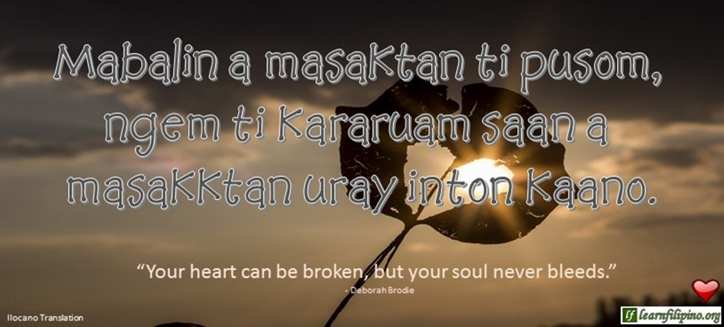Ilocano Love Quotes with English Captions - Learn Filipino