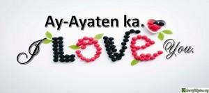 Ilocano Translation - I love you. - Ay-ayaten ka.