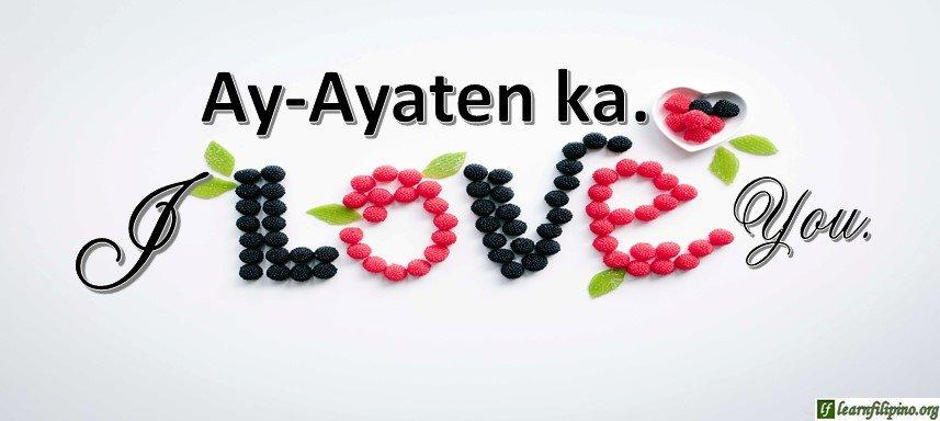 I love you in ilocano
