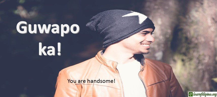 Tagalog Translation - You are handsome! - Guwapo ka!
