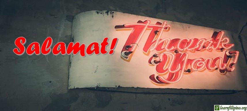 Tagalog Translation - Thank you! - Salamat!
