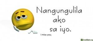 Tagalog Translation - I miss you. 2 - Nangungulila ako sa iyo.