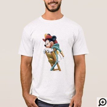 Mickey Mouse Fireman on Ladder T-shirt Customizez it with Filipino Hugot Lines
