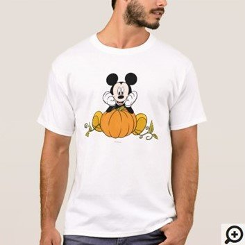 Mickey Mouse Sitting on Pumpkin Shirt Customize it with Filipino Hugot Lines