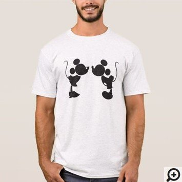 Mickey and Minnie Mouse Silhuette T-shirt Customize it with Filipino Hugot Lines