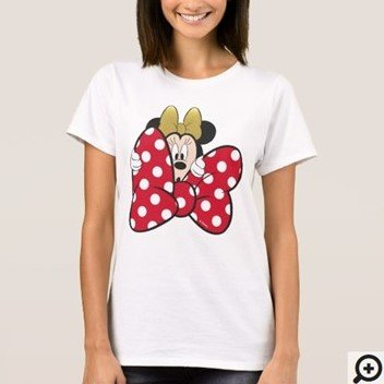 Minnie Mouse Bow Tie T-shirt Customize it with Filipino Hugot Lines