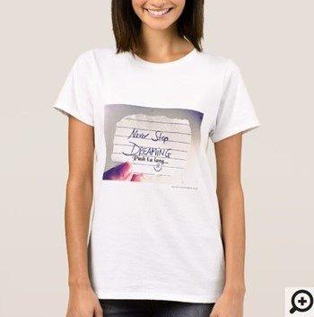 Never Stop Dreaming basta Push ka lang Filipino Hugot Line T-shirt