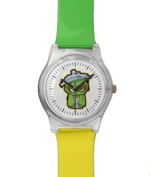 Oscar the Grouch Zombie Wristwatch Customize it with Filipino Hugot Lines