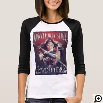 Wonderwoman Fight for Justice T-shirt Customize it with