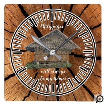 Philippines will always be my HOME Square Wall Clock