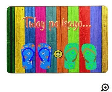 "Tuloy po kayo ""colorful wood stripes"" floor mat"