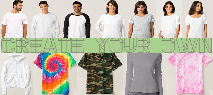 customize these shirts with your own design