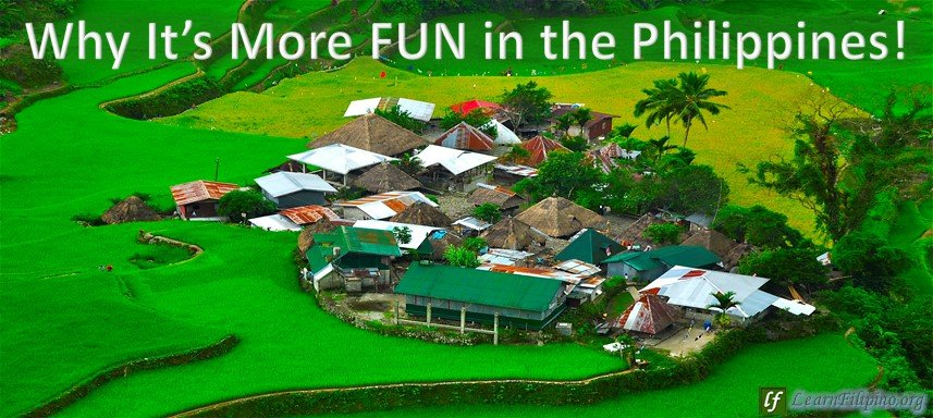 Houses in the middle of Banawe Rice Terraces, Philippines