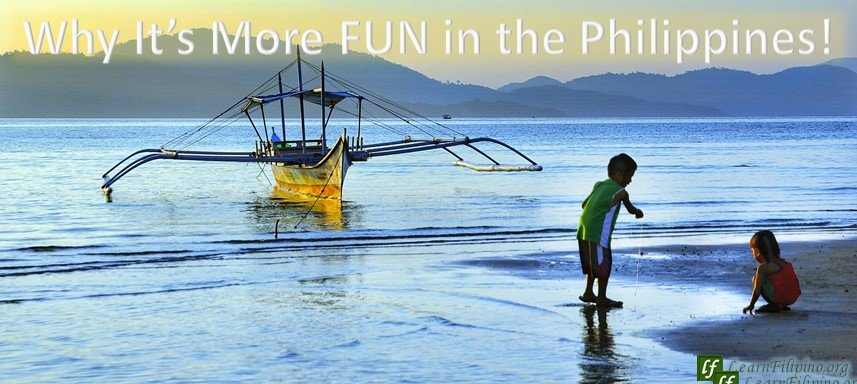 Kids playing by the seashore, Philippines