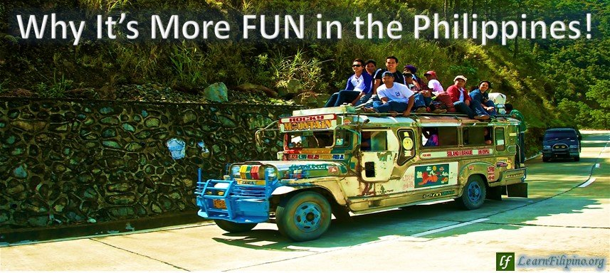 Jeepney with people on top, Philippines