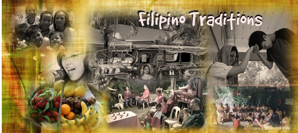 Filipino traditions, Foods, Karaoke, Dancing, Mano Po