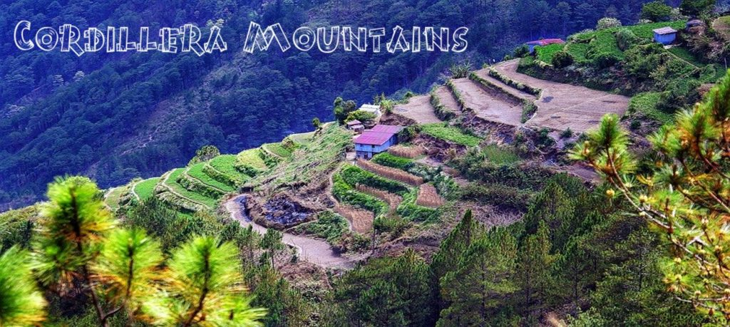 Showing the Terraces in the Cordillera Mountains