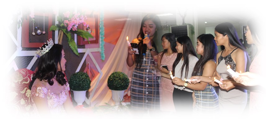Saying the women's speech to the debutante